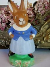 Vintage U.S. Zone Germany Paper Mache Rabbit Bunny. Adorable. In time for Easter