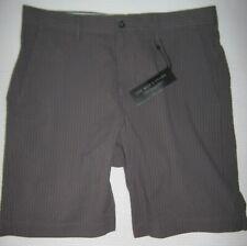 "Walking Shorts Designer Brand Seersucker Regular Fit Bermuda Gray Size 30 x 9"""