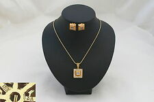 RARE HM 18ct GOLD DIAMOND PENDANT AND EARRINGS 20.9 grams
