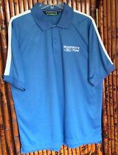 Devon & Jones Sport Men's Solid Mesh Polo Shirt DG375 Blue Size Large