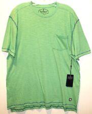 Nat Nast Mens Size M Green Cotton Chest Pocket Designer T-Shirt NWT $45 Size M