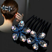 Women's Flower Crystal Hair Clips Pins Comb Slide Barrettes Hair Pin Accessories