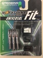 New Nockturnal By Rage Universal Fit Strobing Blue/Green Lighted Nock 3pk NT-320