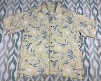 Joseph & Feiss Men's Hawaiian Button Front Short Sleeve Shirt 100% Silk Size XL