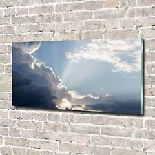Acrylglas-Bild Wandbilder Druck 140x70 Deko Landschaften Wolken Himmel