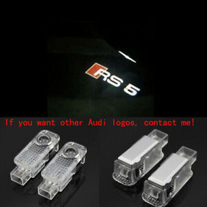 Audi RS5 2X LED Light HD Logo Projector Emblem Ghost Shadow Door Welcome Lights