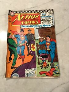 """Action Comics """"From Riches To Rags"""" MAY 1966 #337 DC COMICS good"""