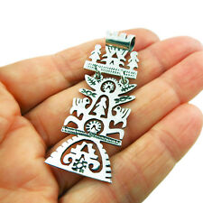 Tree of Life 925 Sterling Taxco Silver Drop Pendant Gift Boxed