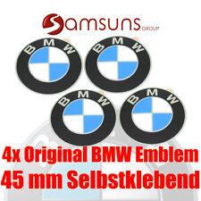 4x ORIGINAL BMW Logo Radnaben Emblem 45mm Plakette Felgenemblem selbstklebend