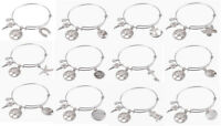 12PCS Mixed Lots of Silver Tone Expandable Wire Bracelet Bangles