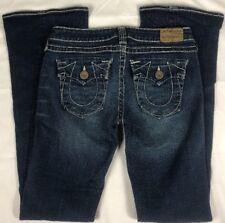 True Religion Joey Heritage Big T Jeans*Sz 29*Thick Stitch*32 Waist*Inseam 35*B5