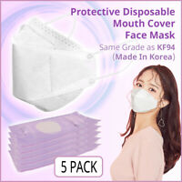[Made In Korea] Protective Face Mask White (4 Multi Filter Layered) (5 Pack)