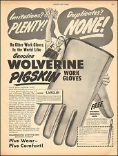 1949 Vintage ad for Wolverine Pigskin Work Gloves Art Photo  (081016)
