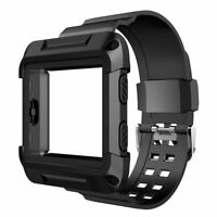 For Fitbit Blaze Fitness Smart Watch Wristband Silicon w/Rugged Protective Case