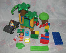 Mega Blok Dora Explorer Diego Set Minifigures, Jeep, Treehouse Parts