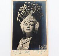 .c1950 WILMA LIPP AUSTRIAN OPERATIC SOPRANO HANDSIGNED REAL PHOTO POSTCARD