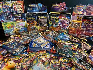 56 Pokemon Karten - Boosterfrisch - KEINE doppelten Karten! 1x V- oder GX-Karte