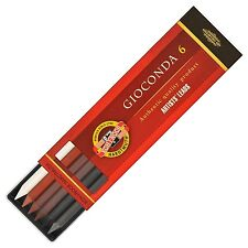 KOH-I-NOOR Drawing Chalks for 5.6mm Diameter I Mechanical Pencil (Set of 6)