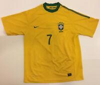 Nike Brazil Soccer Jersey Authentic Dri-Fit  #7 Size Large