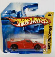 2008 Hotwheels New Models Mint Short Card Ferrari FXX Enzo Race Car Red Rosso