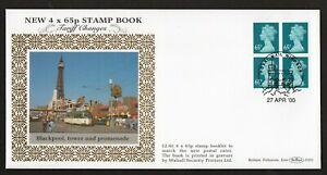 2000 Tarriff Change 4 x 65p Machin Booklet Pane On Benham Silk FDC D355 See Scan