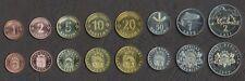 LATVIA COMPLETE FULL COIN SET 1+2+5+10+20+50 Santimu +1+2 Lati UNC LOT of 8