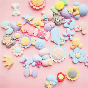 20 Pcs Mixed Candy Color Resin Flatback Slime Beads for DIY Scrapbooking Craft