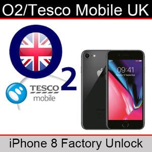O2UK/Tesco Mobile iPhone 8 Factory Unlocking Service