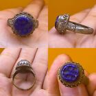 Wonderful Islamic Lapis  Ring Post Medieval Ottoman Empire Style Middle East