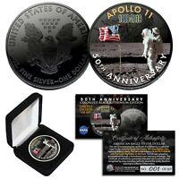 BLACK SPACE RUTHENIUM 50th Anniversary U.S. 1 OZ 2019 American Silver Eagle Coin