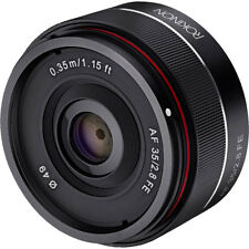 Rokinon IO35AF-E 35-35mm f/2.8 Compact Wide Angle Lens for Sony E Mount, Black