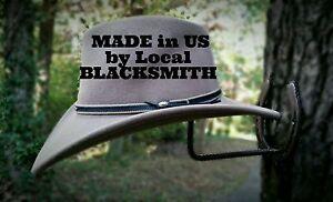Blacksmith, Real Horseshoes, American Made Horseshoe Cowboy Hat Rack**FREE SHIP*