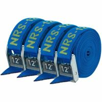 """NRS 1"""" HD Tie-Down Straps - Iconic Blue - 12' 4-pack"""