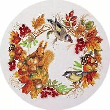 Counted Cross Stitch Kit PANNA - Autumnal wreath