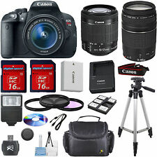 Canon Rebel T5i Camera Bundle w/18-55mm STM+75-300mm III+9pc TOP VALUE PKG+EXTRA