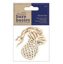 Pineapple - Wooden Tags - 3pcs - Bare Basics