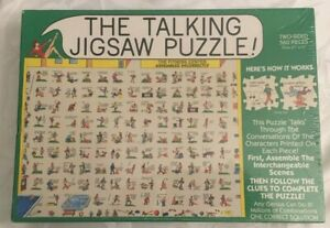 THE TALKING JIGSAW PUZZLE, Vtg.1992, THE FITNESS CENTER, 2-Sided, 560 PCS. NEW