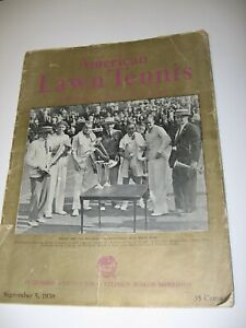 1938 American Lawn Tennis Magazine, Sept. 5 issue, Don Budge/ Bobby Riggs