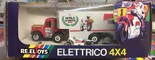 CARRETE JUGUETES ELÉCTRICO 4x4 SCUDERIA YAMAHA CAMIÓN PIU' MOTO NEW