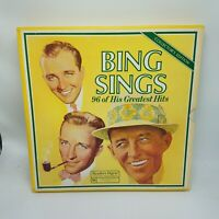 BING CROSBY SINGS, 96 of His Greatest Hits, Vtg Readers Digest 8 Record Box Set