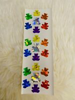 Sandylion Bear Prism Stickers Lot New Retired Rare Rainbow Colors Tiny Heart