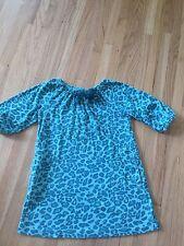 Girls Gymboree Ready Set Go Blue Green Leopard Animal Print Dress SZ 5