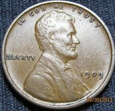 1909 V D B Lincoln Wheat Cent  ~ VF - XF -   Key Better Grade Coin ~