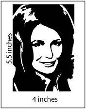 2 LORETTA LYNN Stickers Cut Vinyl Coal Miners Daughter Decca Doll Country Queen