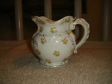 Antique Maddocks Works Lamberton Creamer-Royal Porcelain-Yellow Flower Design
