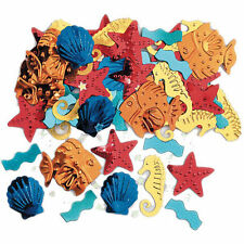 Hawaiian Sailing Beach Party Shells Sealife Luau PARTY TABLE CONFETTI sprinkles