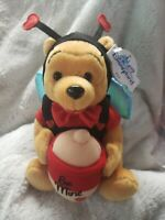 Disney Disneyland Bumble BEE Mine POOH retired bean bag beanie collectible