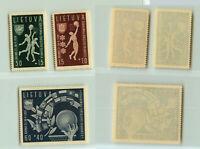 Lithuania 🇱🇹 1939 SC B52-B54 mint or MNH . rtb3466