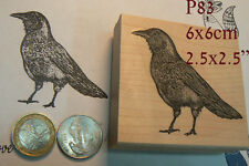 P83 Crow rubber stamp WM