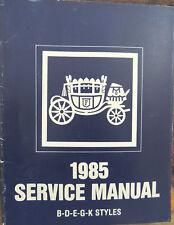 1985 GM Body by Fisher Service Repair Manual B-D-E-G-K Styles Pontiac Grand Prix